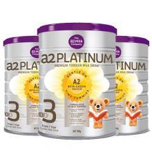 A2 Platinum白金 婴幼儿高端配方奶粉 3段 900g 3罐一箱装【包邮】
