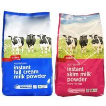澳洲Coles學生成人全脂/脱脂奶粉1kgx6袋【包邮】